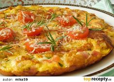 Toustová omeleta recept - TopRecepty.cz Vegetable Pizza, Quiche, Toast, Vegetables, Breakfast, Food, Red Peppers, Morning Coffee, Essen