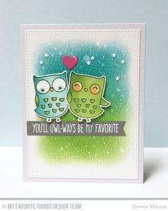 I'm Owl Yours Stamp Set and Die-namics, Starry Circle Die-namics, Blueprints 24 Die-namics - Donna Mikasa  #mftstamps