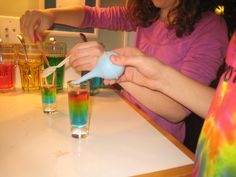 Density demonstration with sugar and water and lots more kitchen science experiment ideas