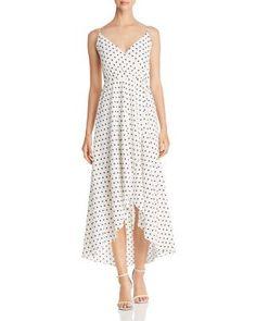 64d284980511 AQUA Polka Dot Faux-Wrap Maxi Dress - 100% Exclusive