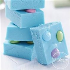 We just can't take our eyes off this vibrant Blue Raspberry Fudge from Pillsbury® Baking! It's as delicious as it is eye-catching.