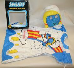 VTG 1982 Ben Cooper Child Smurf Smurfette Costume ORIGINAL BOX 4-6 Small Peyo
