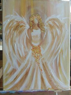 The best Jordan gma bday - - Christmas Paintings, Christmas Art, Tole Painting, Painting & Drawing, Angel Artwork, Easy Paintings, Angel Paintings, Angel Pictures, Learn To Paint