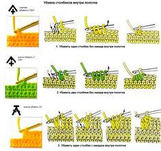 Crochet Decreasing Stitches - Photo Tutorial  ❥ 4U // hf