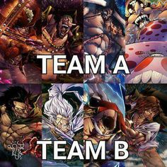 Pick your Team!! #Comment #OnePiece