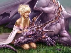 The Dragon ... so good friend with beautiful woman ♡