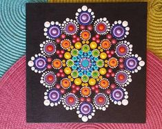8 x 8 Dot Mandala peinture « Beauté »