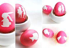 décorer vos oeufs de Pâques avec silhouettes