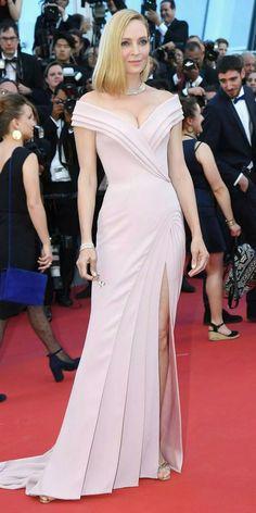 Uma Thurman on the Red Carpet. Cannes Film Festival 2017