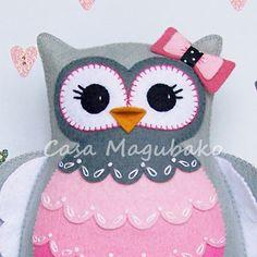 Plněné Owl Šití Pattern Felt sova pincu plněné