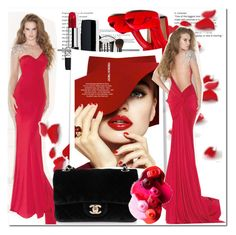 Scoop Sweep/Brush Train Prom Dresses/Evening Dresses Cheap Red Dress by johnnymuller on Polyvore featuring Alexander McQueen, Chanel and Christian Dior