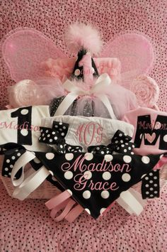 Baby girl gift basket for one of my BFF's =)