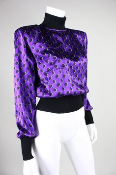 1980's Emanuel Ungaro Silk Blouse | From a collection of rare vintage blouses at https://www.1stdibs.com/fashion/clothing/blouses/