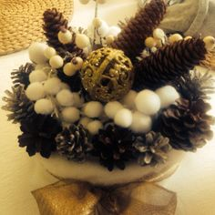 Torta Mont Blanc Materiale riciclo Natale 2014