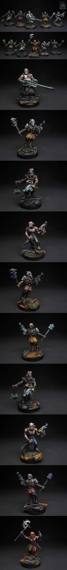 CoolMiniOrNot - Chaos Cultists of Sect Anarkus Warhammer 40k Art, Warhammer Models, Warhammer 40k Miniatures, Warhammer Fantasy, Dark Vengeance, Chaos 40k, 40k Armies, Minis, Sci Fi Miniatures