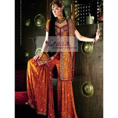 orange-maroon-bridal-gharara-for-grand-muslim-wedding.jpg (800×800)