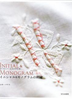 INICIAL y MONOGRAMA bordado - libro de arte japonés