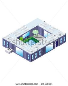 Plans To Design And Build A Container Home - Container House - Shipping Container Stock Photos, Images, Pictures Building A Container Home, Storage Container Homes, Cargo Container, Storage Containers, Container Houses, Container Store, Container Home Plans, Shipping Container Buildings, Shipping Container Home Designs