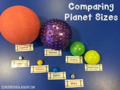 Just finished this fun astronomy activity with my 3rd graders - we used playground balls to...