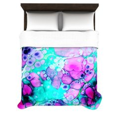 "Sylvia Cook ""Dreaming in Color"" Woven Duvet Cover 