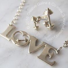 Handmade in USA Dumbbell Jewelry www.DumbbellJewelry.com