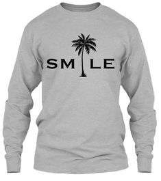 Smile Palm Tree T-shirt Palm Trees, Smile, Stylish, Sweatshirts, Sweaters, T Shirt, Shopping, Fashion, Palm Plants