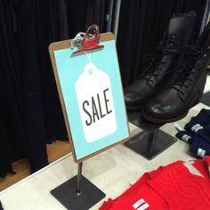 Sale sign idea