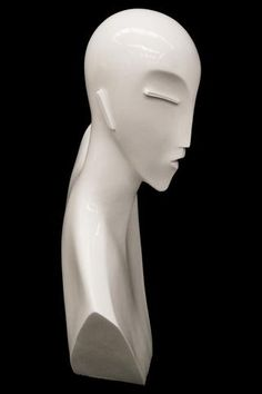 Abstract Art Deco Female Mannequin Head