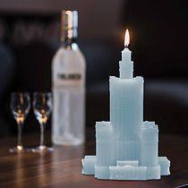 Świeca Pałac Kultury błękit paryski, dodatki - świeczniki i świece