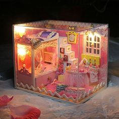 New Hoomeda DIY Dollhouse Kit Kids Girls Collection Gift ...