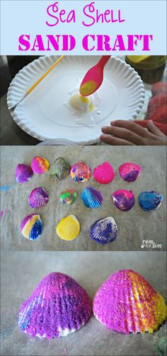 Have some leftover shells from a beach trip? Try this fun sea shell sand craft!