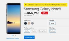Digi opens pre-order for the Galaxy Note8 from RM2268  Digi is also offering the latest Galaxy Note8 on contract. Just like other telcos pre-orders for the productive phablet with S Pen are now open and they are offering the device with subsidies and extra freebies from Samsung Malaysia.  As part of the pre-order promo thats running from now until 10th September you are also getting Samsung Protection Plus (1 year extended warranty  1 year screen crack protection) a 5100mAh power bank and a…