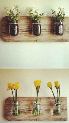 New Wood Flower Holders