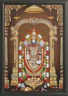 Balaji - Wall Hanging - Table Top and Wall Hanging Pictures (Print on Laminated Board - Framed) Hd Nature Wallpapers, Lord Vishnu Wallpapers, God Pictures, Print Pictures, Buy Frames, Frames On Wall, Lord Photo, Lord Balaji, Lord Shiva Family