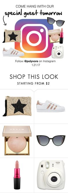 """Instagram Takeover Alert!"" by polyvore-editorial ❤ liked on Polyvore featuring Lisa Bea, adidas Originals, Stila, Fendi, MAC Cosmetics, Fujifilm and InstagramTakeover"