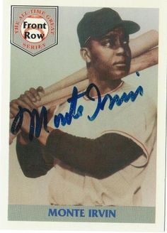 Monte Irvin New York Giants Autographd 1992 Front Row Card