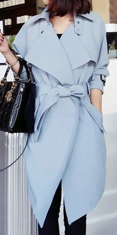 Baby blue trench