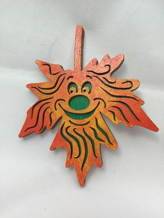 Add a little bit of happiness to your #kitchen with one of our #oak #leaf spirit magnets.   Each spirit is hand made and painted so there will be variation making each one its... #etsy #unique #custom #gift #laser #spirit #refrigerator #magnet #wood