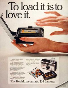 It was a very big deal in 1963 when Kodak released their Instamatic camera which had a snap-in cartridge rather than spooled film.