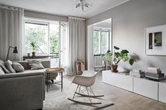 Take a Look Around this Compact Apartment Decorated in Calming Neutrals