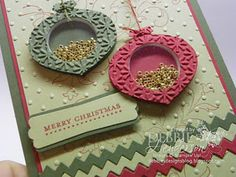 Stampin' Up! Christmas Card  by Debbie Henderson: Ornament Punch