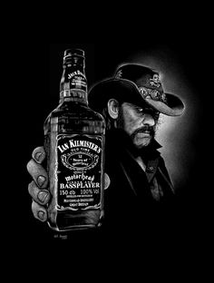 Lemmy Killmister by Will Argunas 2017 - Whisky Heavy Metal Art, Heavy Metal Bands, Rock Band Posters, Cigars And Whiskey, Ozzy Osbourne, Wallpaper Downloads, Concert Posters, Rock Music, Hard Rock