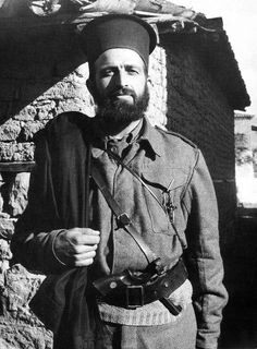 Greek Orthodox priest takes to the Greek mountains and joins the communist resistance movement ELAS. The cross co-exists with the revolver.