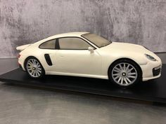 PORSCHE 911 turbo 2017 - cake by Paul Delaney of Delaneys cakes Beautiful Cakes, Amazing Cakes, Gravity Defying Cake, Chocolate Mud Cake, Porsche 911 Turbo, 3d Cakes, Hand Carved, Cake Decorating, Carving