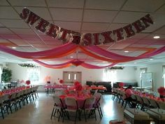 Sweet Sixteen Party decorations for my daughter Sara.