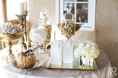 Favor table by Event Success | Weddings in Woodinville | The Popes Photographers