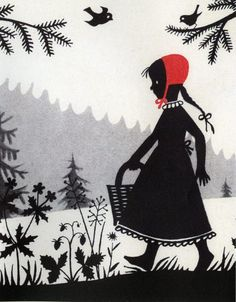 Divica Landrova's  illustration for Little Red Riding Hood