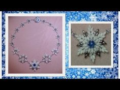 Frosted Feelings (beaded snowflakes) Beading Tutorial by HoneyBeads1 (with superduo beads) - YouTube