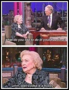Lol Betty white got love her:))