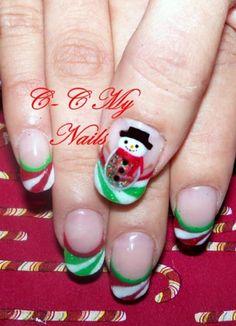 Snowman Nails Winter Nail Art Winter Nails Christmas Nail Art Designs Holiday Nail